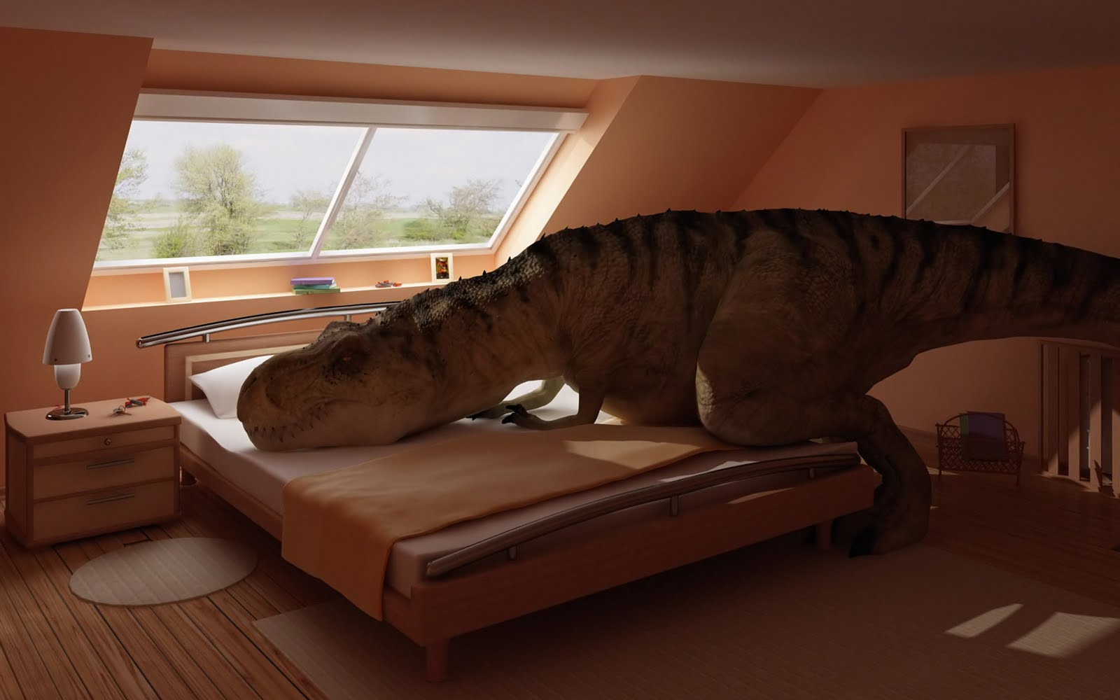 dinosaur_sleeps_funny wallpapers